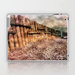 Sea Defence Groynes - watercolour effect. Laptop & iPad Skin