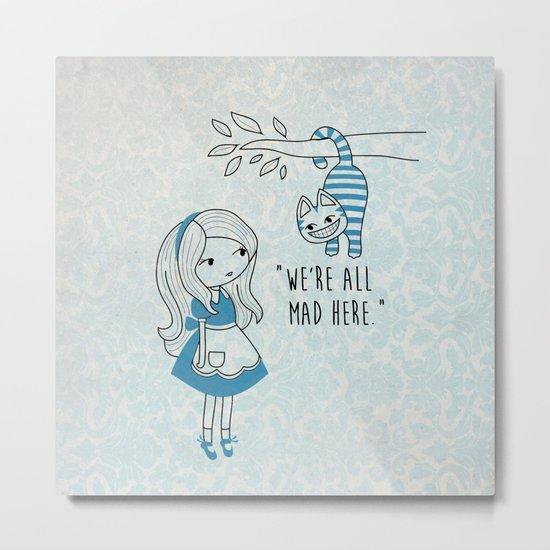 Alice and Cat Metal Print
