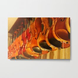 At the Luthiery Metal Print