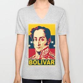 Simon Bolivar Poster Unisex V-Neck