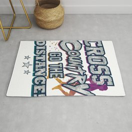 Cross Country Go the Distance Runner Gift Rug