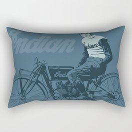 Motorcycle Board Track Racer 4 Rectangular Pillow