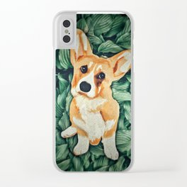 Mia the Corgi Clear iPhone Case