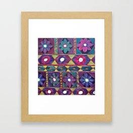 Embroidery Framed Art Print