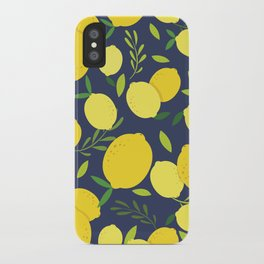 Freshly Picked Lemon iPhone Case