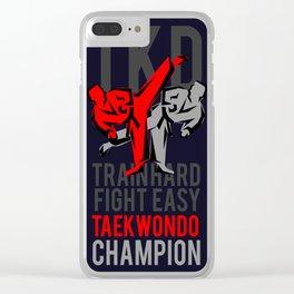 TKD Taekwondo - Champion, Tae kwon do Clear iPhone Case