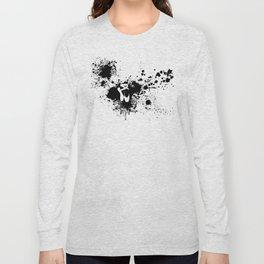 Ballet Slipper Splatter Painting Long Sleeve T-shirt