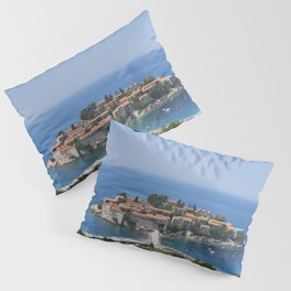 Montenegro Kotor Bay Coast Cities Building Houses Pillow Sham