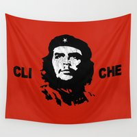 che Wall Tapestries featuring Cli Che by Jan Wandrag