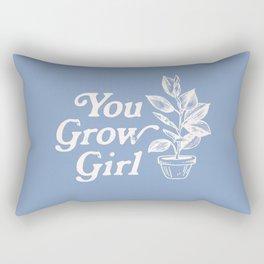 You Grow Girl Blue & Cream Rectangular Pillow