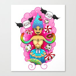 Toothfairy the queen of candy Canvas Print