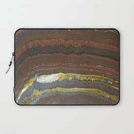 mineral stone colorful lines Laptop Sleeve