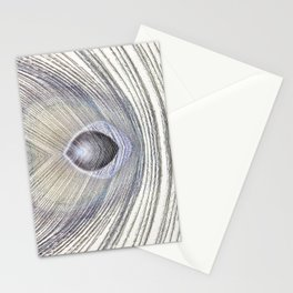 Peacock Feather Symmetry ii Stationery Cards