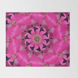 Pink Hydrangea Kaleidoscope Throw Blanket