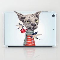 jazzberry iPad Cases featuring Sphynx cat by dogooder