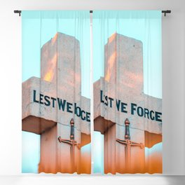 """Inscription on the cross """"Lest we forget"""" Blackout Curtain"""