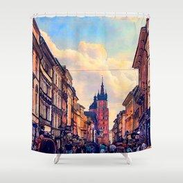 Cracow Florianska street Shower Curtain