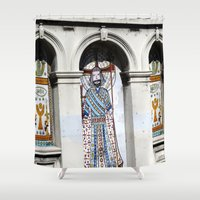 religion Shower Curtains featuring religion by Hannah
