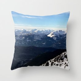 Crispy light air up here Throw Pillow