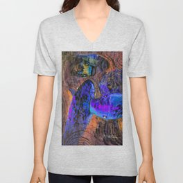 Little Koi Blue Unisex V-Neck