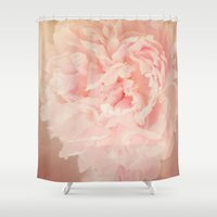 blush Shower Curtains featuring BLUSH by Jenny Althouse