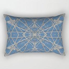 Snowflake Blue Rectangular Pillow