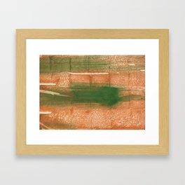 Peru green streaked wash drawing illustration Framed Art Print