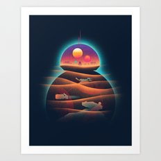 Droid-land Art Print