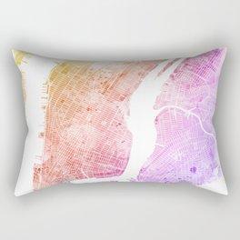 New York City Watercolor Map #6 Rectangular Pillow