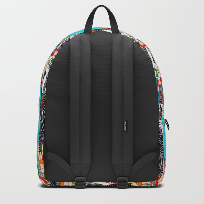 Heroes Doodle Square Backpack