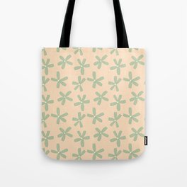 Green & Pink Floral Tote Bag