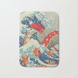 The Great Red Wave I Bath Mat