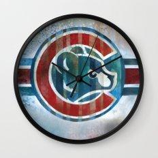 Bleed Cubbie Blue Wall Clock