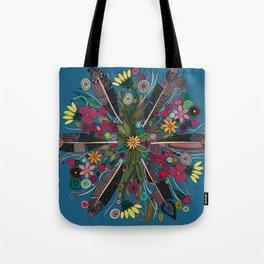 bohemian posy blue Tote Bag