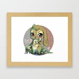 Chines dog horoscope Framed Art Print