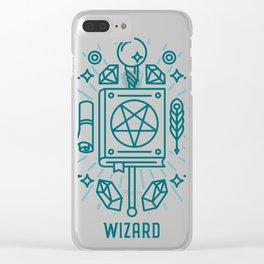 Wizard Emblem Clear iPhone Case