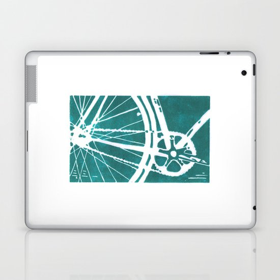 Teal Bike Laptop & iPad Skin