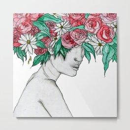 Femme d'Été Metal Print