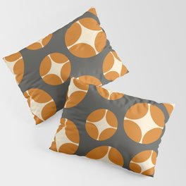 Minimal Abstract Vintage Cream Orange Grey 13 Pillow Sham
