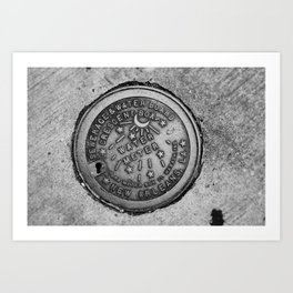 New Orleans Water Meter Art Print