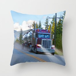 Trans Canada Trucker Throw Pillow