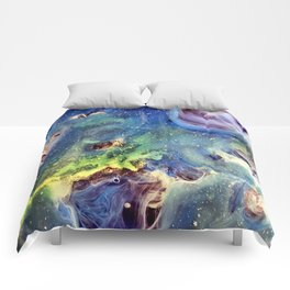 Constellation Crab Abstract Watercolor Painting Comforters