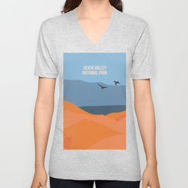 Winged Living Creatures Soaring High In Death Valley National Park Unisex V-Neck