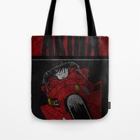 akira Tote Bags featuring AKIRA by Zorio