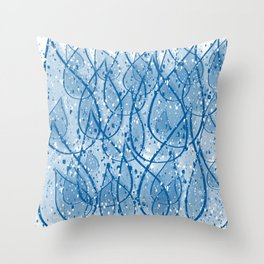 Snowy Drops Throw Pillow