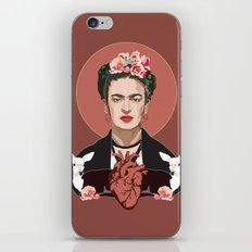 Frida Kahlo (Dark) iPhone & iPod Skin