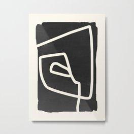 abstract minimal 57 Black & White Metal Print