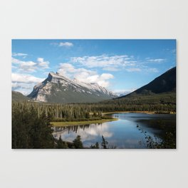 Vermillion Lakes, Banff Alberta Canada Canvas Print