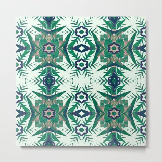 Tropical Snowflakes Metal Print