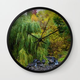 Weeping Willow Tree in Revelstoke BC, Canada Wall Clock